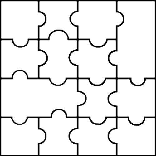printable puzzle pieces template dakotaflower home free blank