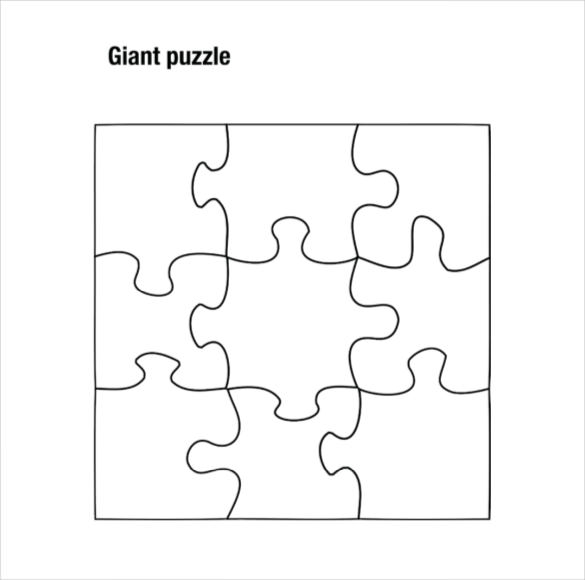 Most Blank Puzzle Pieces Printable Agreeable Piece Template 19
