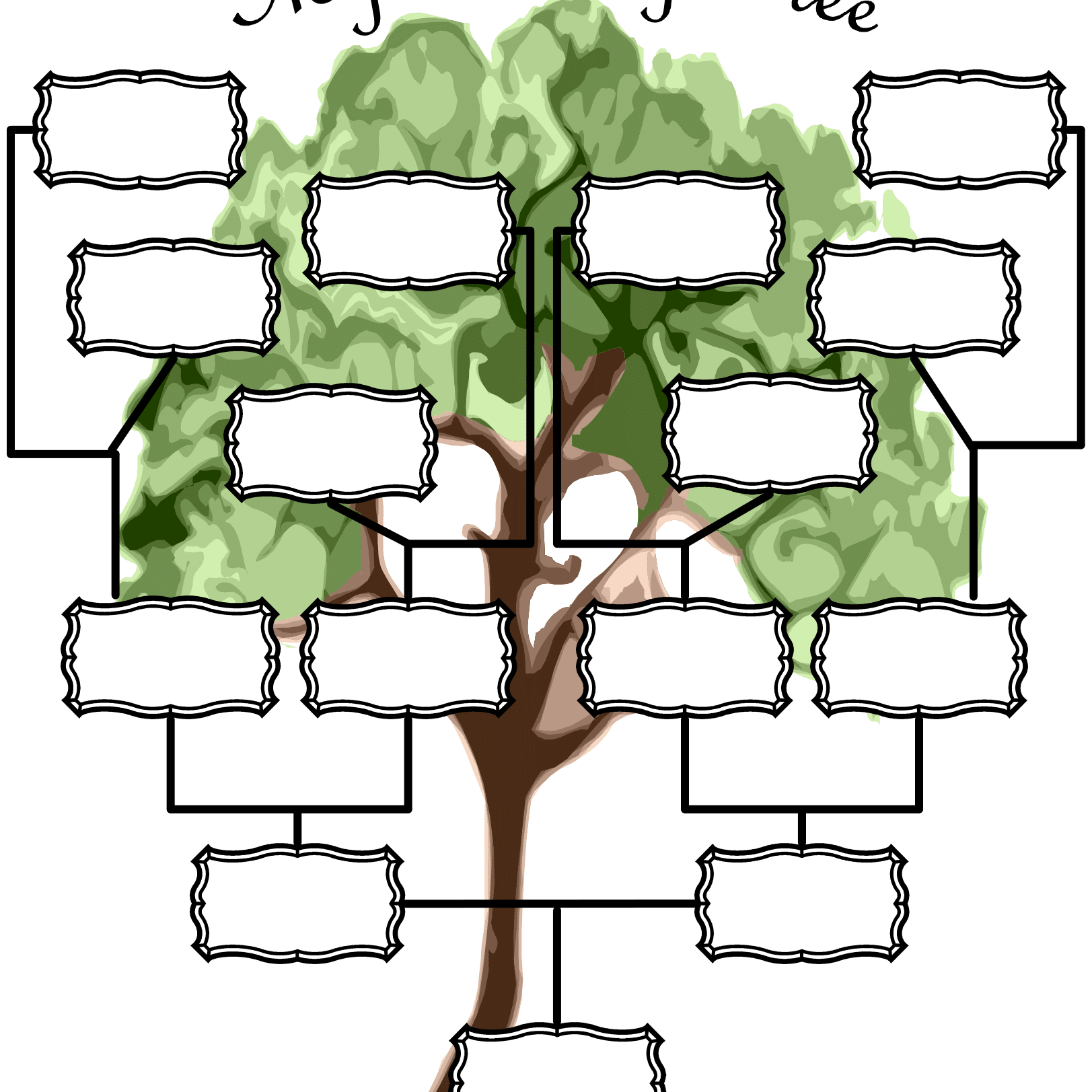 Free Printable Family Tree Chart | ellipsis
