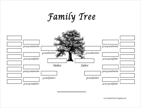 Free Family Tree Template | Printable Blank Family Tree Chart