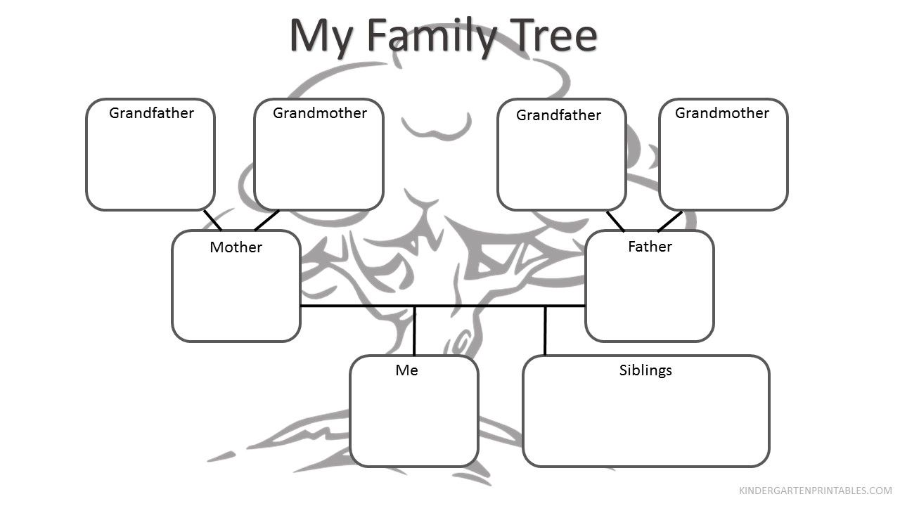 Free printable Family Tree Worksheet Free Family Tree Worksheet
