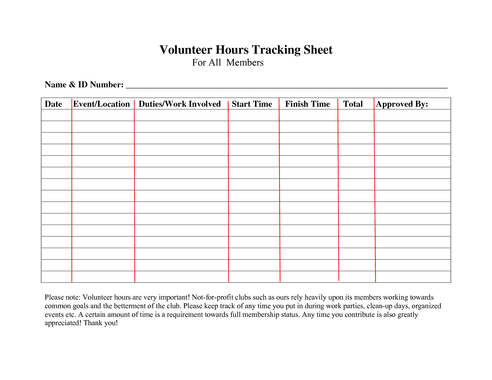 5 Printable community service hours log sheet template Forms