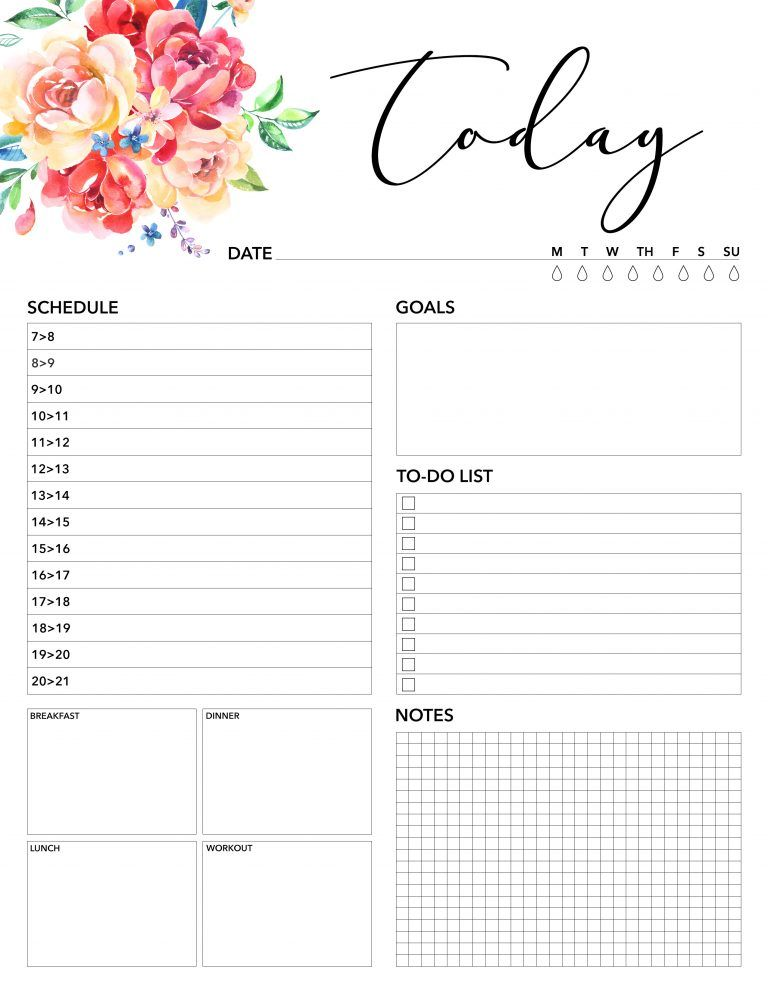 Free Printable 2018 Planner 50 Plus Printable Pages | Time