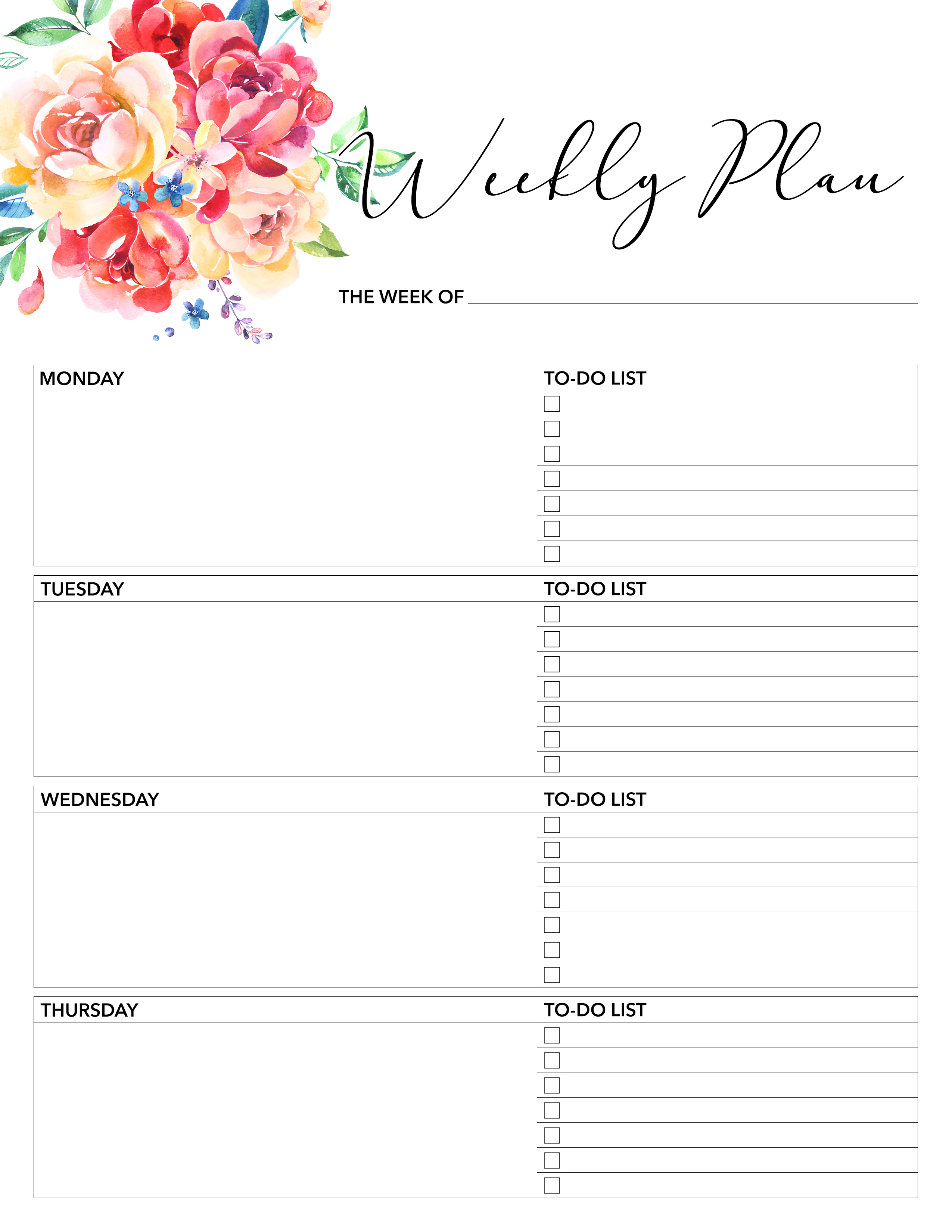Printable Daily Planner 2018 | room surf.com