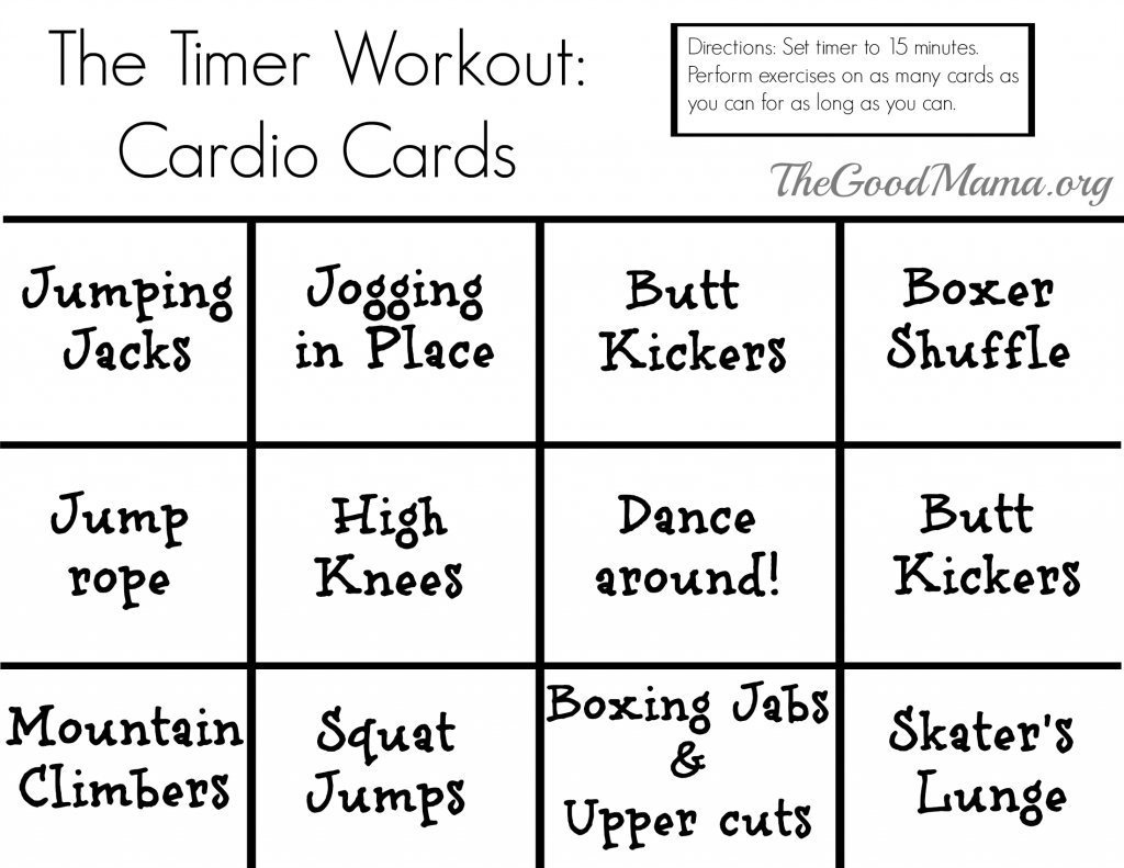 Printable Exercise Cards | hauck mansion