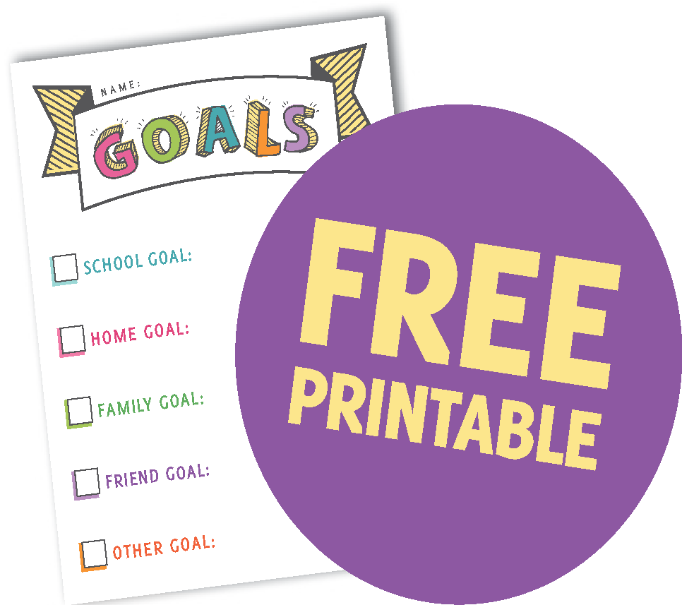 Free Printable Goals Chart 2017   Kid to Kid