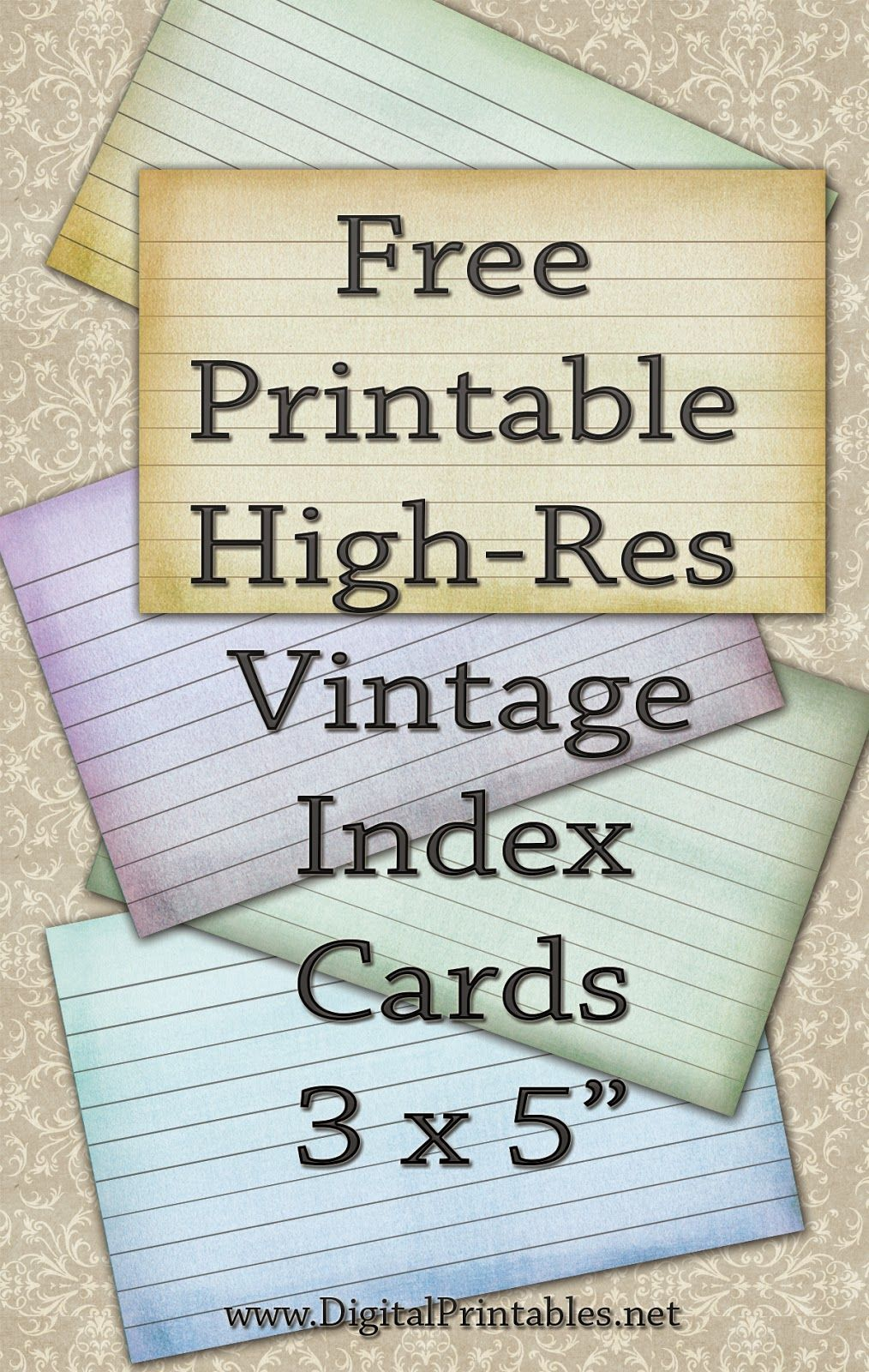 photograph about Printable Index Cards 4x6 named Cost-free Printable Index Playing cards Template Organization PSD, Excel
