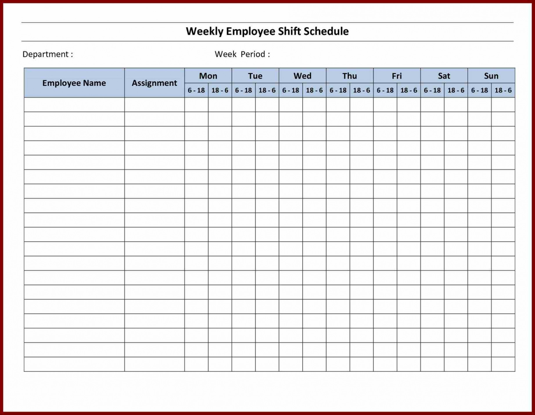 free printable schedule maker