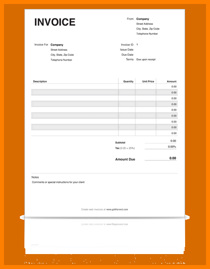 free printable invoice template 10 printable invoice templates and