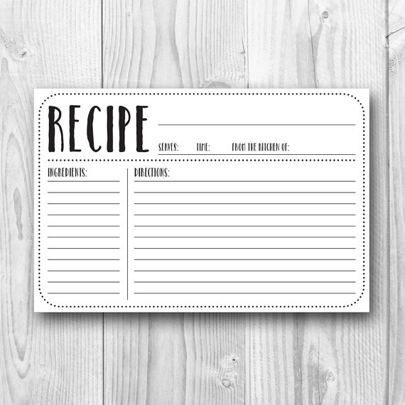 29 Images of Printable Recipe Template 8X10 | somaek.com