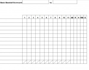 30+ Printable Baseball Scoresheet / Scorecard Templates ᐅ