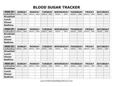 5+ Free Printable Blood Sugar Log Templates