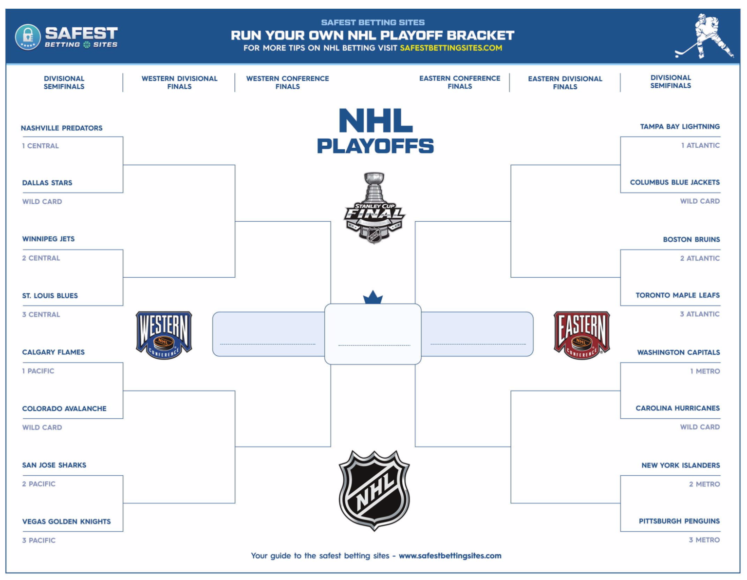 NHL Playoff Bracket 2019 (Printable PDF)   Official Stanley Cup