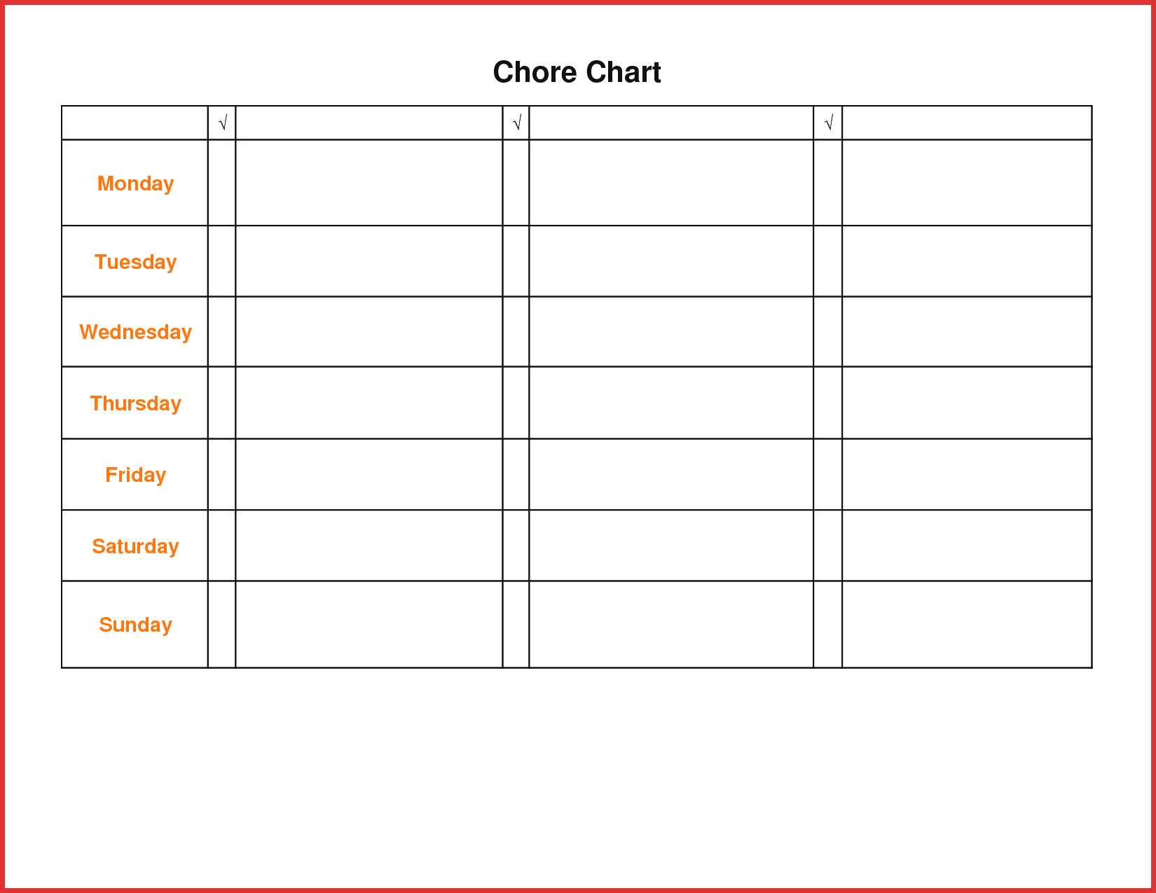 Lovely Teenage Chore Chart | resume pdf