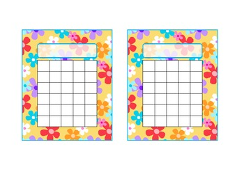 Flower Fun Printable Incentive Chart by Deanna Roth | TpT
