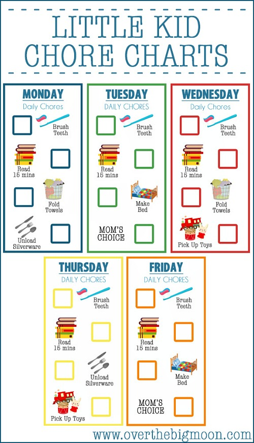 Free Printable Chore Charts for Toddlers   Frugal Fanatic