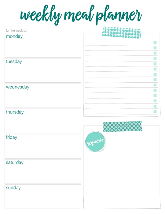 Printable Weekly Meal Planners   FREE | Live Craft Eat