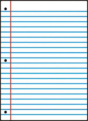 Free printable wide ruled notebook paper