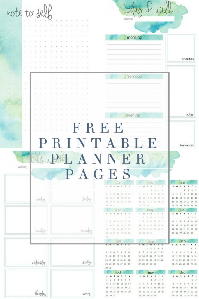Planner Printables   The Crazy Craft Lady