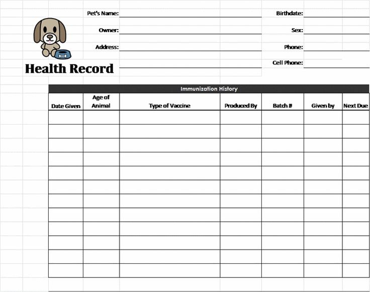 Puppy Health Record   Fill Online, Printable, Fillable, Blank