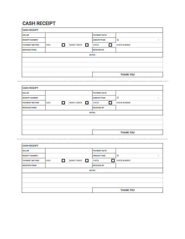 Receipt Template Form   Fill Out and Sign Printable PDF Template