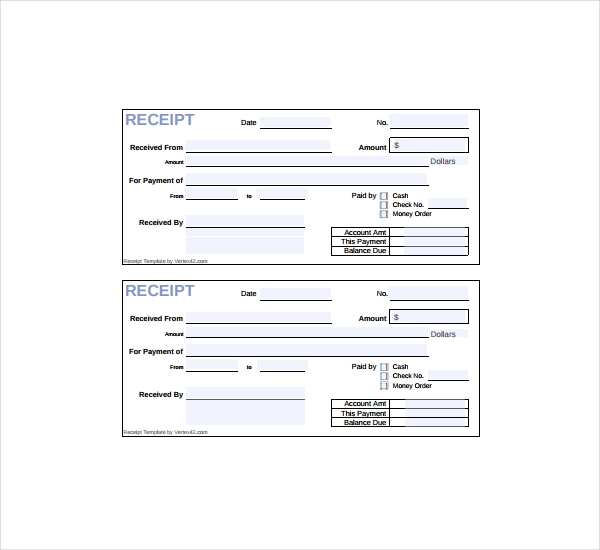 Printable Sales Receipt Template , Free Sales Receipt Template for