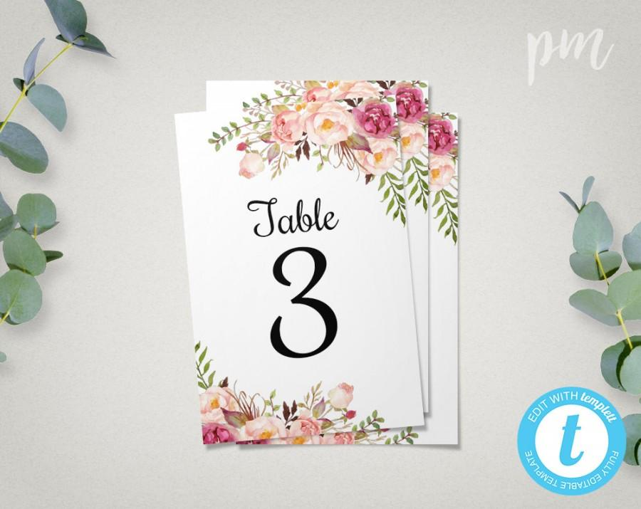 photograph regarding Free Printable Wedding Table Number Templates named Printable Desk Quantities Template Template Workplace PSD