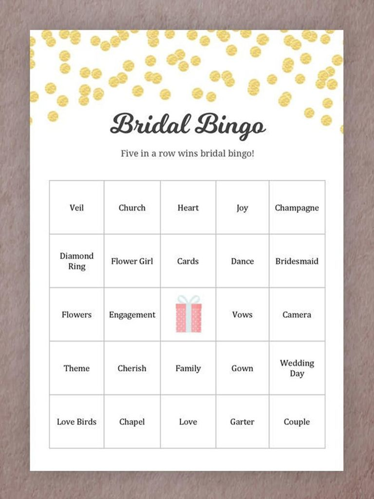 15 Printable Wedding Games Everyone Will Love
