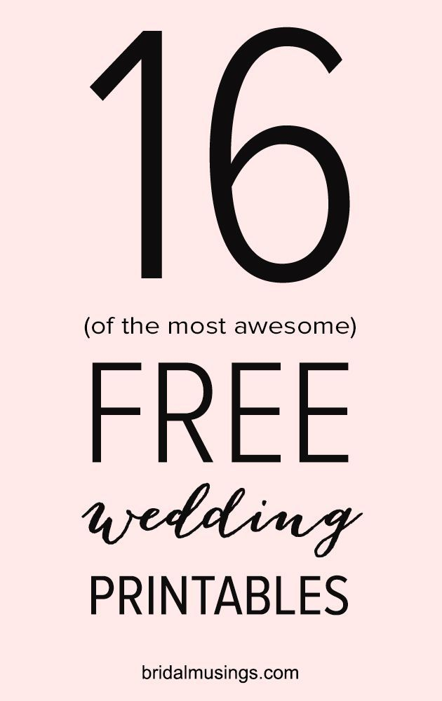 Free Download | Printable Wedding Signs
