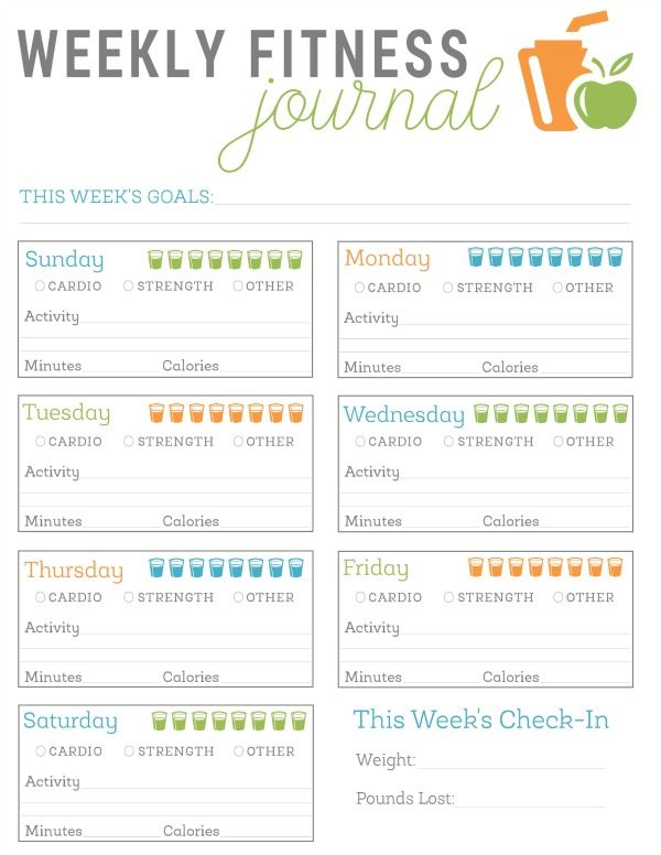 Fitness Journal Printable | room surf.com