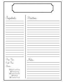 Home | wedding inspiration | Recipe template for word, Homemade