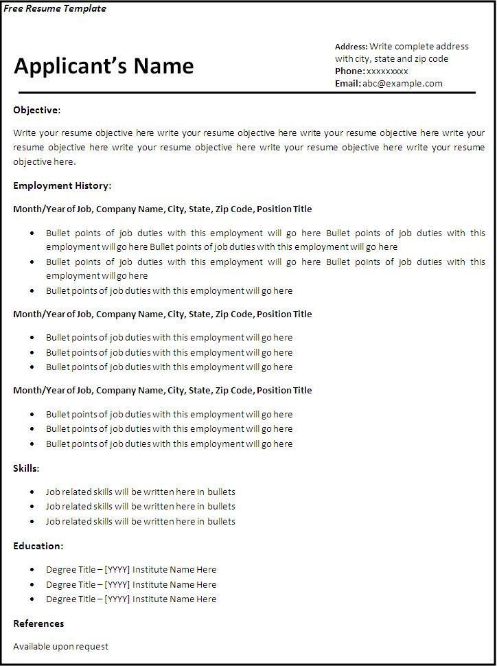 Modern Resume Template Free Resume Templates Download From Super