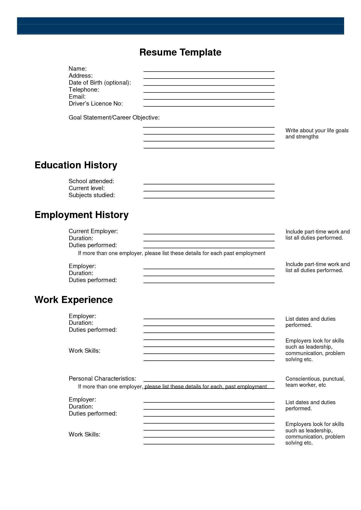 Pin by Anishfeds on Resumes | Free resume builder, Free printable